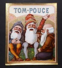 ORIGINAL  CIGAR BOX LABEL TOM - POUCE DWARF  SMOKING  CIGAR