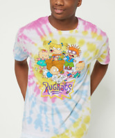 Nickelodeon Men's Rugrats Classic Characters Tie Dye Licensed T-Shirt New