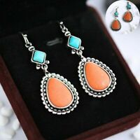 Jewelry Silver for Turquoise Pretty Earrings Drop A Women Pair/set
