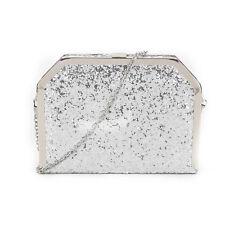 Party Prom Wedding Shiny Glitter Glittery Sparkly Box Clutch Evening Bag Handbag