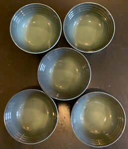 "SET OF 5!!!! LE CREUSET Cereal Bowls OCEAN 6"""