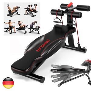 Sit-Up Bank Bauchtrainer Trainingsbank Fitness Rückentrainer Hantelbank Klappbar