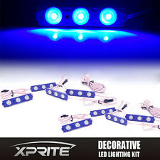 BLUE Xprite 8PC Light Pod Custom Strip Car Truck Interior Door Dome Trunk 24 LED