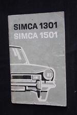Instructieboekje Simca 1301 / 1501