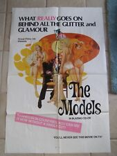 Vintage Adult Sexploitation Movie Poster 1 Sheet 1960's The Models