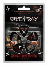 Green Day Plektrum Set Revolution Radio 5 Plectrum Set Guitar Picks