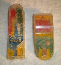 Vintage Marx Toy Skee Skill & Under-N-Over Mini Handheld Pin Ball Games 1950's