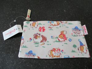 Cath Kidston - Guinea Pig Pets Party Zip Purse/Make Up Bag/Pencil Case - NEW