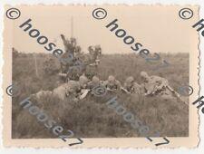 Foto Wehrmacht Luftwaffe Flak 2cm Bedienung Papier Agfa 9x6cm original 2.WK