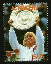 MARTINA NAVRATILOVA CZECH FORMER WORLD #1 PROFESSIONAL TENNIS PLAYER MINT STAMP