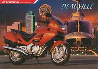 Honda Deauville Prospekt 1997 12/97 brochure Motorradprospekt prospectus Katalog