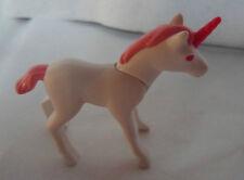 Playmobil Blanco Unicornio Con Rosa Cuerno melena y ojos H46