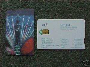 BT Visiting Card Phonecard - Steve Fish VIS 084 Unused