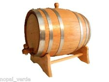small OAK BARREL 1 liter steel band for whiskey, tequila, wine, bourbon