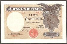 25 lire Aquila Latina Serie A1 24/01/1918 R5 inizio tiratura tripla a Rarissima