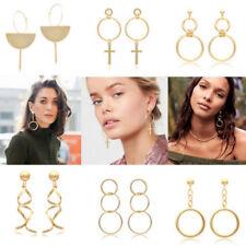 Gold Big Circle Drop Earrings Long Earrings Jewelry for Women Statement Earrings
