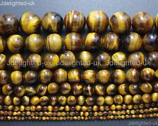 Natural Gemstone Tiger's Eye Round Beads 2mm 4mm 6mm 8mm 10mm 12mm 16mm 15.5''