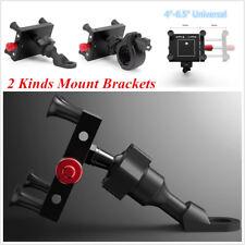 Motorcycle Bike Handlebar Aluminum Adjustable 360° Rotation Phone Holder Bracket