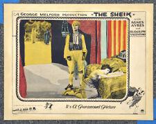 The Sheik '21 Rudolph Valentino Agnes Ayres Original Silent Lobby Card