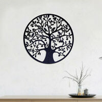 60x60cm Tree of Life Metal Hanging Wall Art Round Hanging Sculpture Home Decor