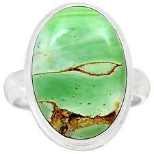 Variscite 925 Sterling Silver Ring Jewelry S.10 VRSR140