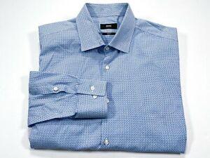 Hugo Boss 17 Slim Fit Blue Long Sleeve Button Front Men's Shirt