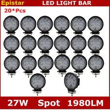 20X 27W Spot LED Work Light Fog Lamp Truck Off Road Tractor Front 12V 24V Round