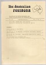 AUSTRALIAN POSTHORN : POSTAL STATIONERY & HISTORY OF AUSTRALIA JOURNAL 1 - 34 C