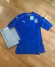 PUMA Authentic 2016 Italy Home Jersey Shirt Size Medium $175