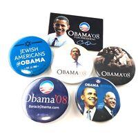 Barack Obama '08 For President Pinback Button Lot of 6 Political Campaign Biden