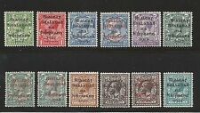 Ireland 1922 Dollard overprints ½d-10d SG1 - 9 Sc 1-11 10A carmine mounted mint