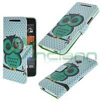 Custodia booklet GUFO VERDE per HTC One M7 cover STAND tasche carte case nuova