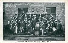 PRINTED POSTCARD OF ASHINGTON HARMONIC MILITARY BAND, 1907, NORTHUMBERLAND