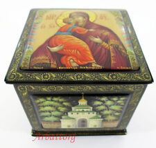 Russian Lacquer box Mstera Vladimirskaya Holy Mother of God Hand Painted №254-2