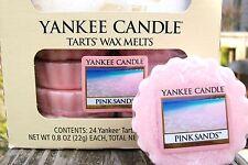 "Box Lot of 24 Yankee Candle ""PINK SANDS"" Tarts Wax Melts"