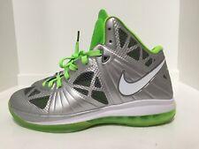 Nike Lebron 8 P.S. Dunkman Metallic Silver Electric Green SZ 12 441946-002 )