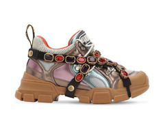 GUCCI FLASHTREK REMOVABLE CRYSTAL TRAINERS SHOES TURNSCHUHE SCHUHE SNEAKERS 36,5
