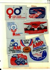 9 DIFFERENT AMP CONNECTORS COAL MINING STICKERS # 1112