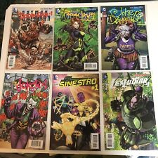 DC New 52 Villains Lot 12 Issues