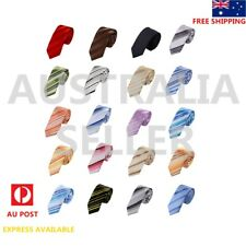 EAE1A21 Thanksgiving Day Presents Striped  Mens Silk Skinny Necktie Epoint