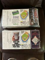 Dealer Lot (500) 1987 & (500) 1988 Boston Red Sox Schedules Factory Sealed