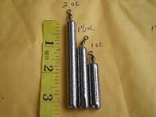60 PCS BOTTOM BOUNCER PENCIL SINKER 1,1-1/2, 2 OZ W/#7 BLACK BARREL SWIVEL 20ea.