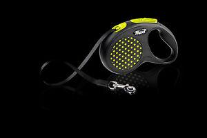 Flexi Retractable Design Dog Tape Leash, Small size 5m, Yellow