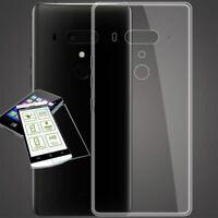 Para HTC U12 Plus Funda de Silicona Bolsa Transparente + 0,3 H9 Verre Protection