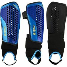 Mitre aircell carbon shin guards with ankle protecter black/cyan/yellow