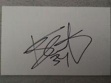 Kevin CAL firmato carta bianca