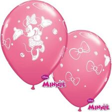 12 x Minnie Mouse sans message Rose de Rose 30.5cm Qualatex Ballons en Latex