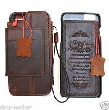 genuine leather Case for apple iphone 6s book wallet cover magnetic Removable 6