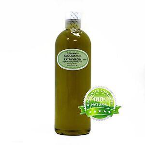 Extra Virgin Avocado Oil Unrefined Raw 100 %Pure Organic Cold Pressed 2oz-Gallon
