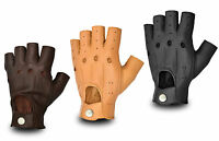 CLASSIC LEATHER FINGERLESS SKINFIT DRIVING GLOVES BUS BIKER WHEELCHAIR CHAUFFEUR